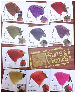 Euro Yarns Fruits & Veggies Hat Kits