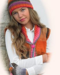Hug Waistcoat, Hat and Fingerless Gloves Pattern (Purchase ONLY ONE COPY to get all the patterns from Noro Romance)
