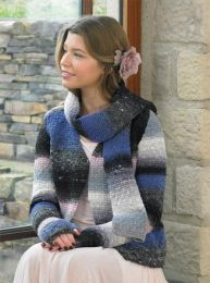 Darling Jacket, Scarf, Fingerless Gloves Pattern (Purchase ONLY ONE COPY to get all the patterns from Noro Romance)
