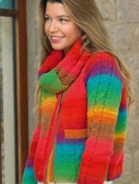 Affection Cardigan and Snood Pattern (Purchase ONLY ONE COPY to get all the patterns from Noro Romance)