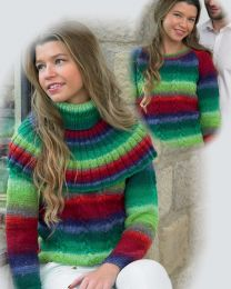 Kiss Sweater and Collars Pattern (Purchase ONLY ONE COPY to get all the patterns from Noro Romance)