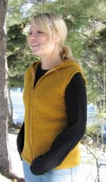 Knitting Pure and Simple - Bulky Hooded Vest for Women