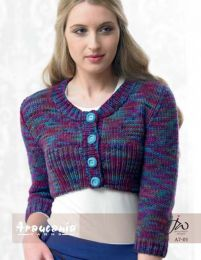 Ladies Upper Body Cardigan - Free Download with Huasco Chunky Purchase of 4 or more skeins