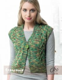 Ladies Short Waistcoat - Free Download with Huasco Chunky Purchase of 4 or more skeins