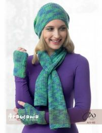 Textured Neck Wrap, Hat and Fingerless Gloves - Free Dowload with Huasco DK Purchase of 4 or more skeins