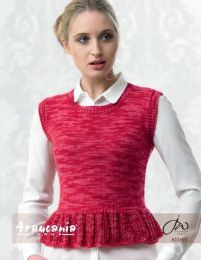 Ladies Top with Lace Peplum - Free Download with Huasco DK Purchase of 4 or more skeins