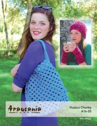 Beanie Hat, Wrist-warmers & Beach Bag - Free Download with Huasco Chunky Purchase of 4 or more skeins