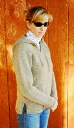 Knitting Pure and Simple - Neckdown Hooded Tunic for Women