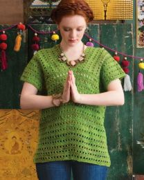 V-Neck Shell - Free Download with Silk Garden Lite Solo Purchase of 4 or more skeins
