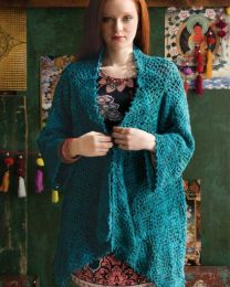 Shell-n-Mesh Squares Cardigan - Free Download with Silk Garden Lite Solo Purchase of 4 or more skeins