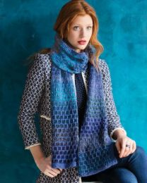 Dot-Stitch Scarf - Free Download with Silk Garden Lite Solo Purchase of 4 or more skeins