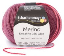 Schachenmayr Merino Extrafine 285 Lace - Cabarnet (Color #581) - Variegated Works with Gradual Stripes