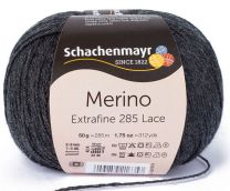 Schachenmayr Merino Extrafine 285 Lace - Charcoal Heather (Color #598)