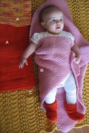 Knitting Pure and Simple - Bulky Baby Blankets & Booties
