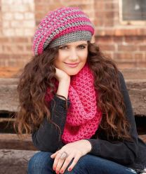 Crochet Stripe Beret & Cowls (Purchase ONLY ONE COPY to get all the patterns from SMC Inspiration - 74)