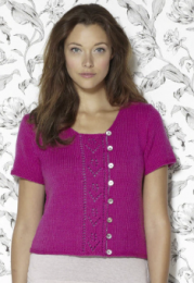 Design 9 (Short-Sleeved Buttoned Sweater) - The Second Sublime Worsted Design Book