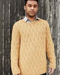 Cabral's Cabled Sweater - Debbie Bliss Knitting Magazine - Fall-Winter 2012 (Issue #9)