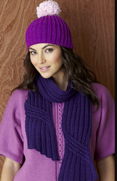 Design 6&17 (Hat and Scarf) - Included in The Fifth Sublime Worsted Design Book
