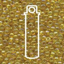 Miyuki Japanese Seed Beads Size 6/0 - Transparent Yellow with Iridescent Coating (6-9252-TB)
