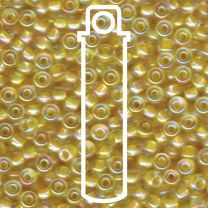 Miyuki Japanese Seed Beads Size 6/0 - Light Yellow Lined Crystal Aurora Borealis (6-9273-TB)