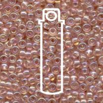 Miyuki Japanese Seed Beads Size 6/0 - Round Transparent Light Tea Rose (6-9292-TB)