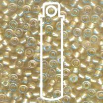 Miyuki Japanese Seed Beads Size 6/0 - Pearlized Crystal Canary with Iridescent Coating (6-93643-TB)