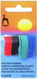 Pony Split Ring Markers - Pack of 24 Assorted (Item #60638)