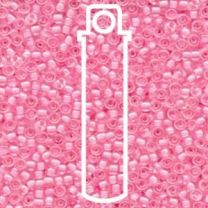 Miyuki Japanese Seed Beads Size 8/0 - Pink Lined Crystal (8-9207-TB)
