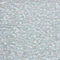 Miyuki Japanese Seed Beads Size 8/0 - Crystal with Iridescent Coating (8-9250-TB)