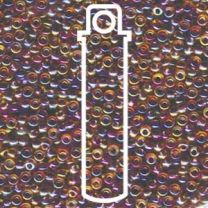 Miyuki Japanese Seed Beads Size 8/0 - Berry Lined Light Topaz with Iridescent Coating (8-9342-TB)