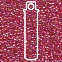 Miyuki Japanese Seed Beads Size 8/0 - Hot Pink Lined Crystal with Iridescent Coating (8-9355-TB)