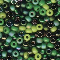 Miyuki Japanese Seed Beads Size 8/0 - Mix Evergreen (8-9MIX03-TB)