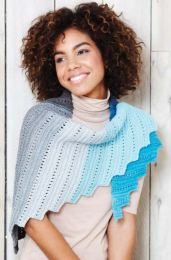 Sirdar Colourwheel Castellated Wrap and Scarf - Pattern #8032 - Free with orders of One Sirdar Colourwheel Purchase/Please add to cart (Pdf File)