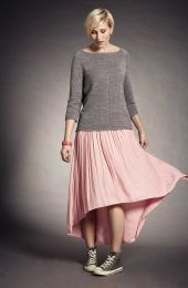 Vogue Knitting Early Spring 2016 -  Eyelet Top by Yoo Hatta