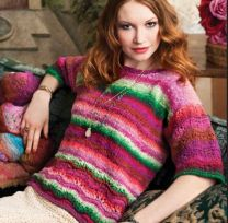 Dropped Shoulder Pullover - Free Download with Purchase of 4 Skeins of Noro Taiyo