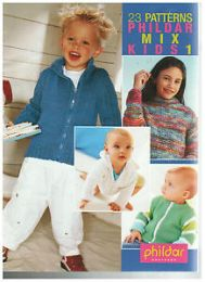23 Patterns Phildar Mix Kids 1 [Paperback] by R. C. Roubaix