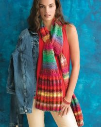 Pleat And Eyelet Scarf - Included in Noro Knitting Magazine Issue #10