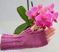 Simply Cabled Mitts by Tribble Knits