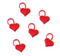 AddiLove Heart Stitch Markers - 6 Pieces