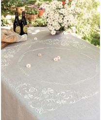 Anchor Free Style Embroidery Kit - Alabaster Tablecloth