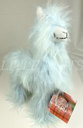 !!Inspired Peru Peruvian Stuffed Animal - Alpaca (Light Blue B) -Feathery and Fluffy Fur in Baby Blue with Very Subtle Hints of Light Honey on Back