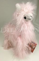 !!Inspired Peru Peruvian Stuffed Animal - Alpaca (Cotton Candy Pink) - Feathery and Fluffy Fur in Light Pink