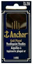 Anchor Gold Plated Needlepoint Needles - Size 24 (Item #14493)
