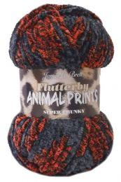 James C. Brett Flutterby Print - Jaguar (Color #AP3) - Three Skeins - FREE w/ Purchase of $25 or More/ONE FREE GIFT PER PERSON PLEASE