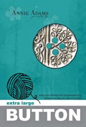 Annie Adams Extra Large Pewter Button with Willow