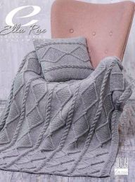 August Throw and Cushion - Free With Purchases of 4 Skeins of Cozy Soft Chunky (PDF File)