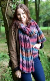 Autumn Mix Scarf - Free with WYS Yarn Purchase (One Free Pattern Per Purchase/Person Please)