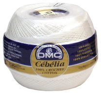 Cebelia Crochet Thread Size 10 - Snow White (BLANC)