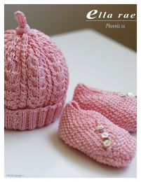 Baby Beanie and Booties - Free with Purchase of 1 Skein of Ella Rae Phoenix DK Prints (PDF File)
