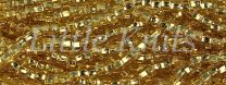 Preciosa 6/0 Czech Seed Beads - Silver Lined Straw Gold (Color #17020)